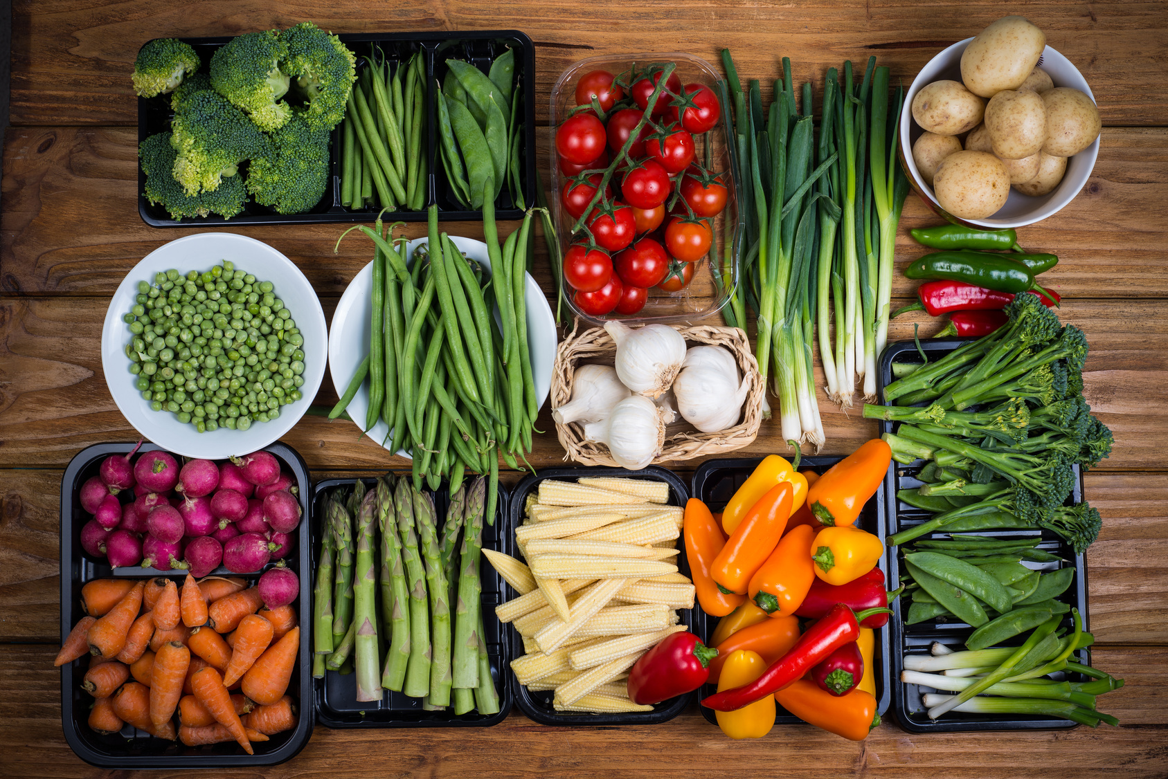 A variety of flourishing vegetables for a whole-food, plant-based menu.