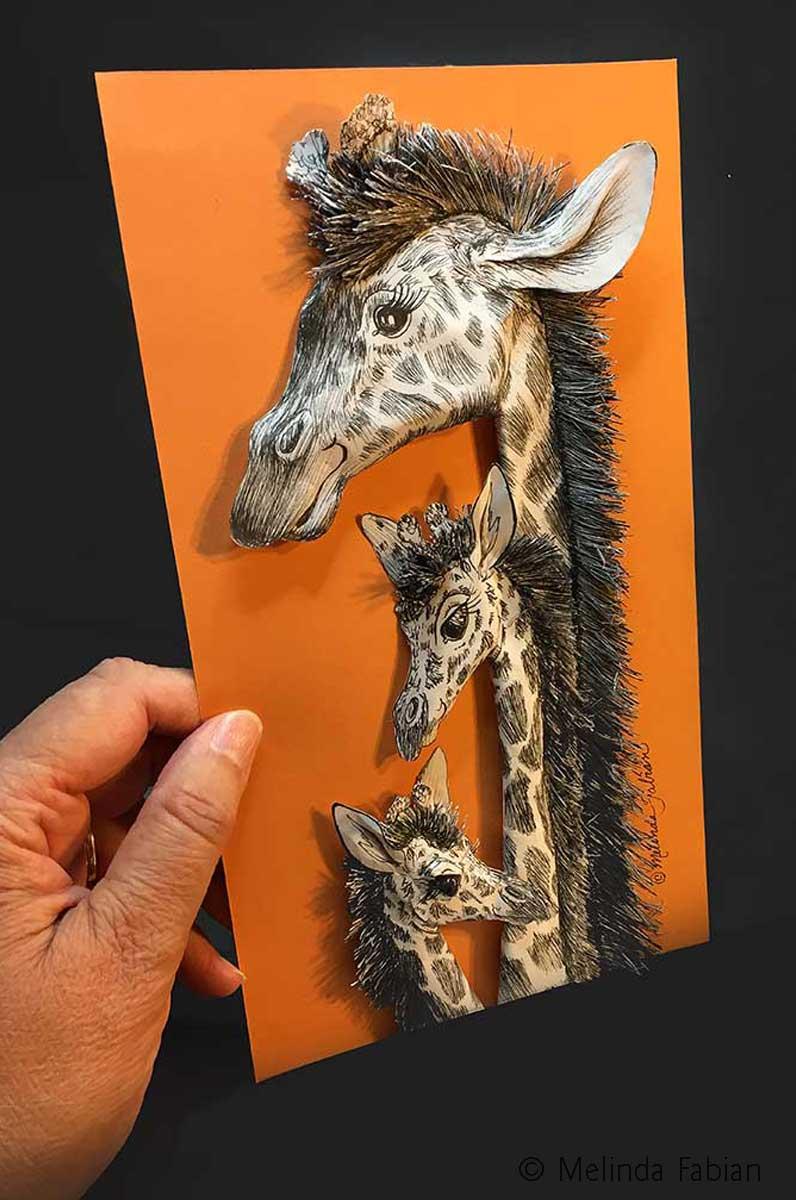 Inktober: Giraffe Family