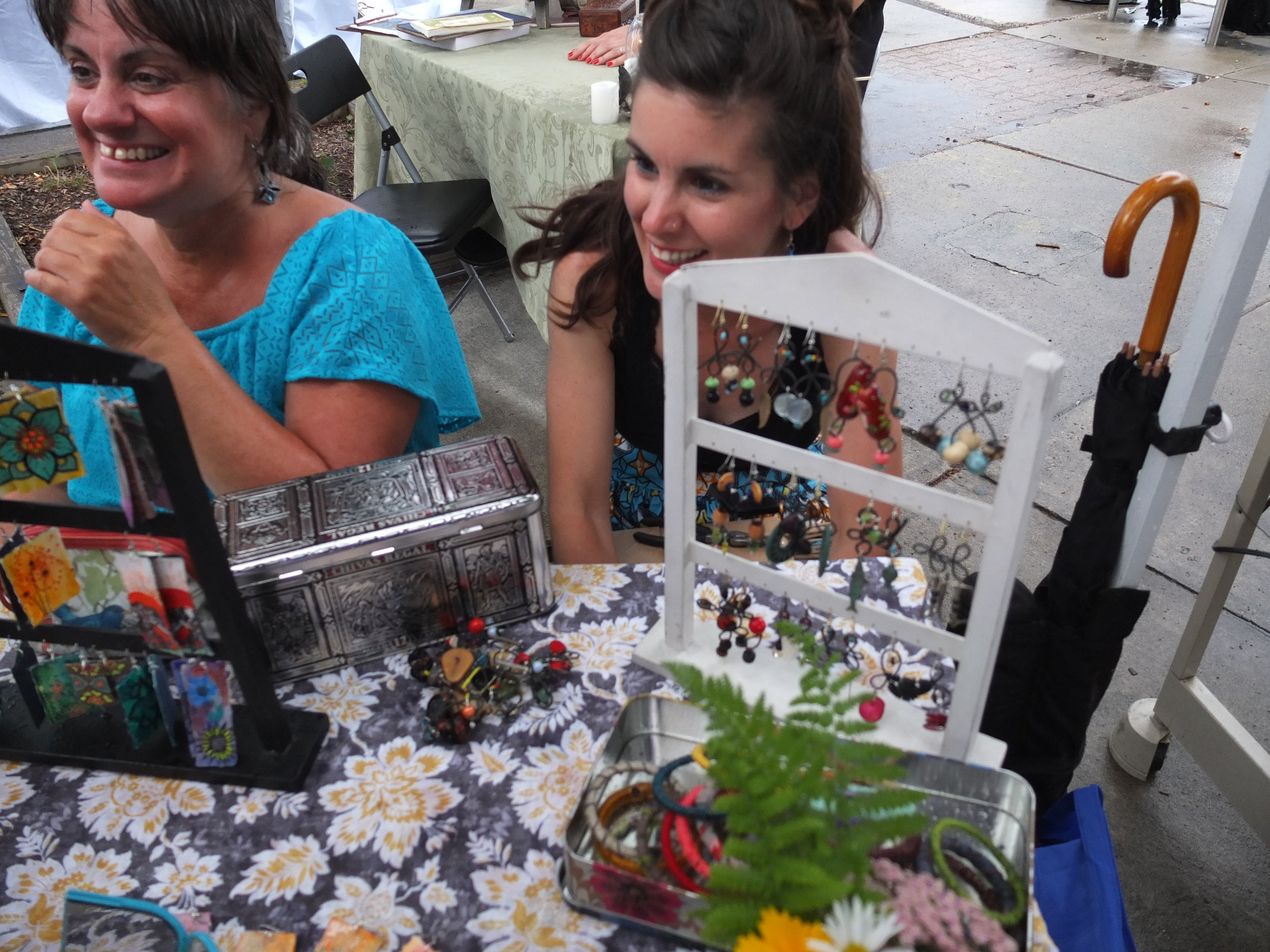 Somerville Flea, Union Square Night Market, July 2017 (Melissa and her momma)