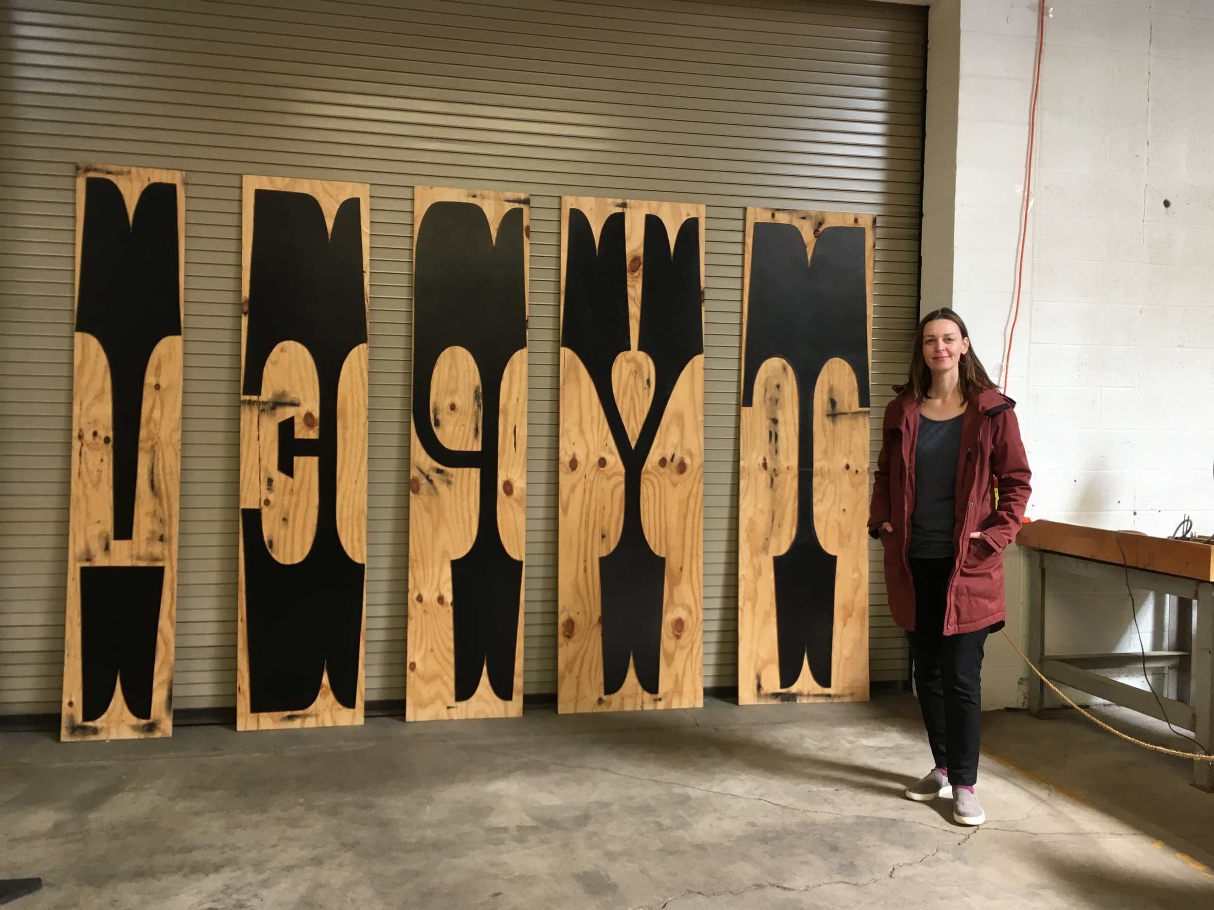 Here I am on my visit to the Hamilton Wood Type Museum in Wisconsin. It was here I learned about die-cut technology and why this was a valuable advancement for the creation of wood type.