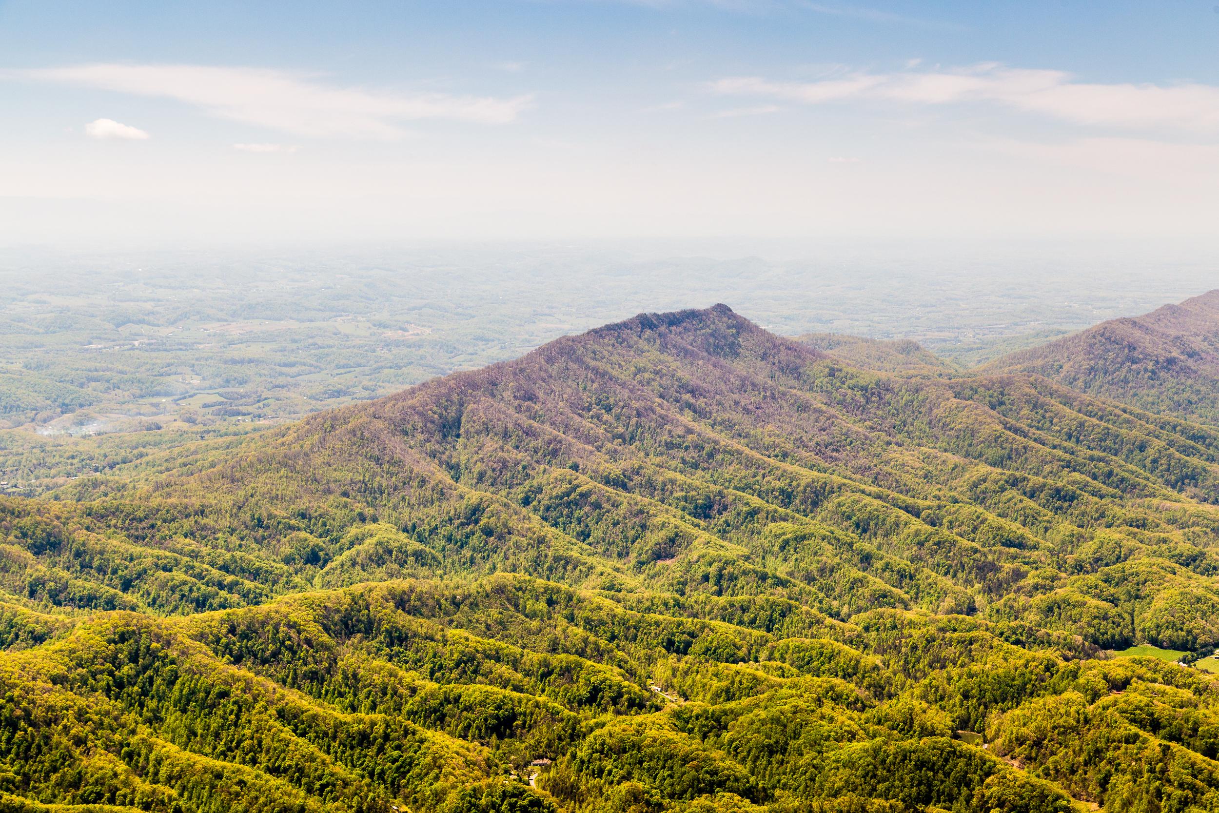 Appalachian mountain ridge, southeastern Kentucky.
