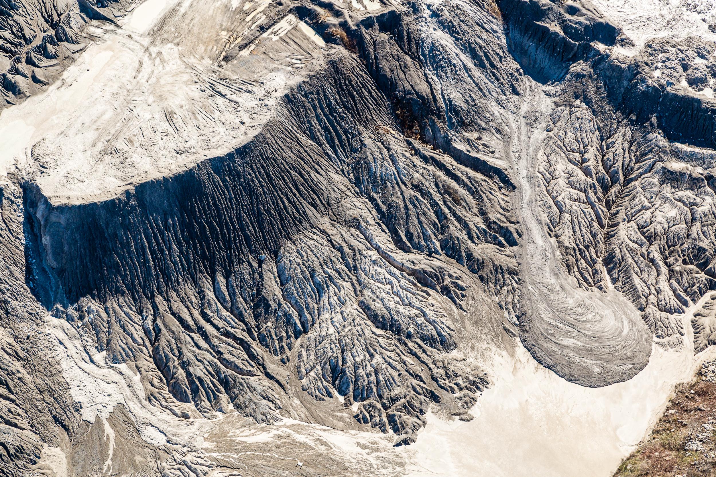 Quarry erosion patterns.