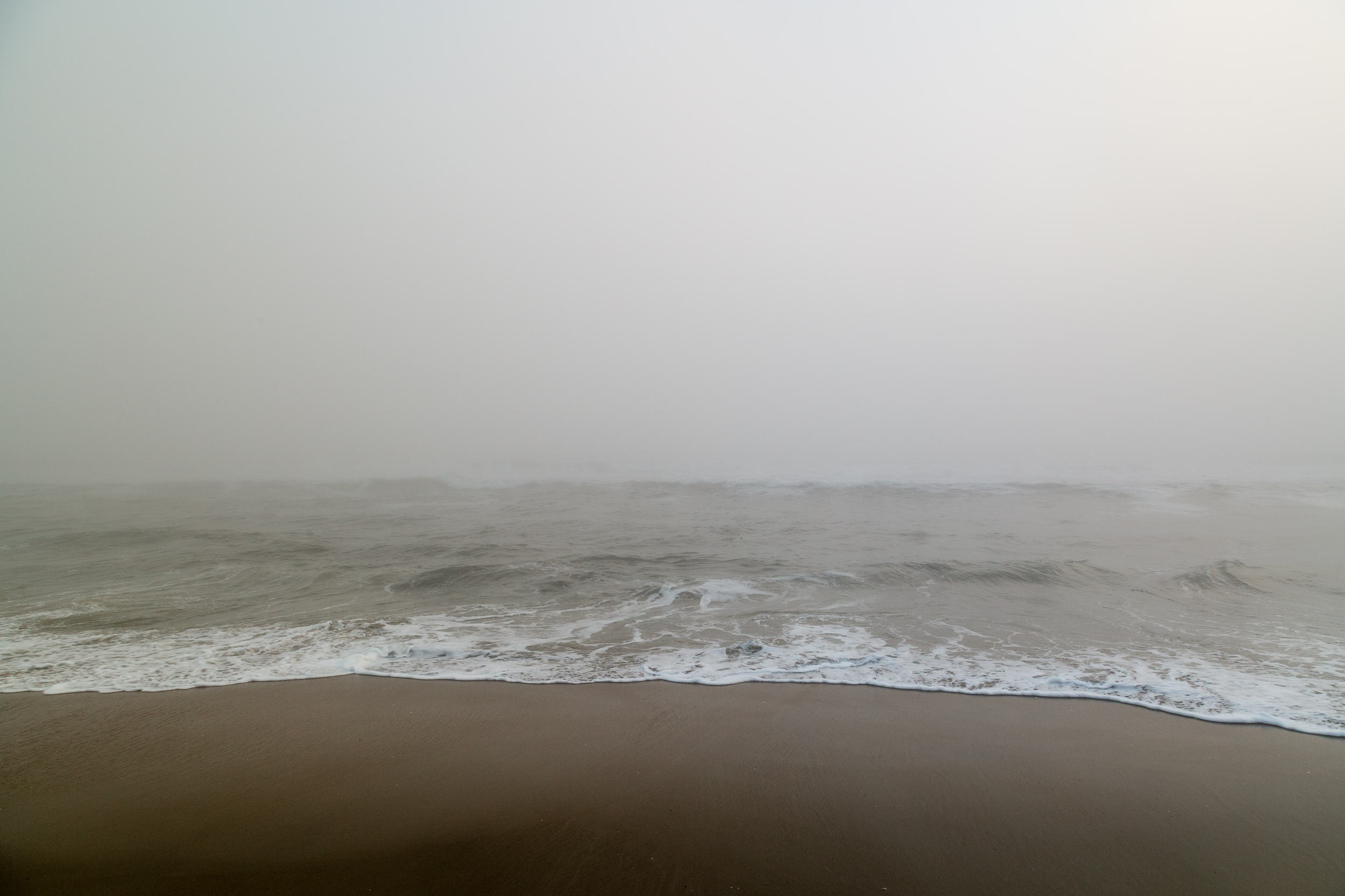 Morning fog over the Outer Banks, North Carolina.