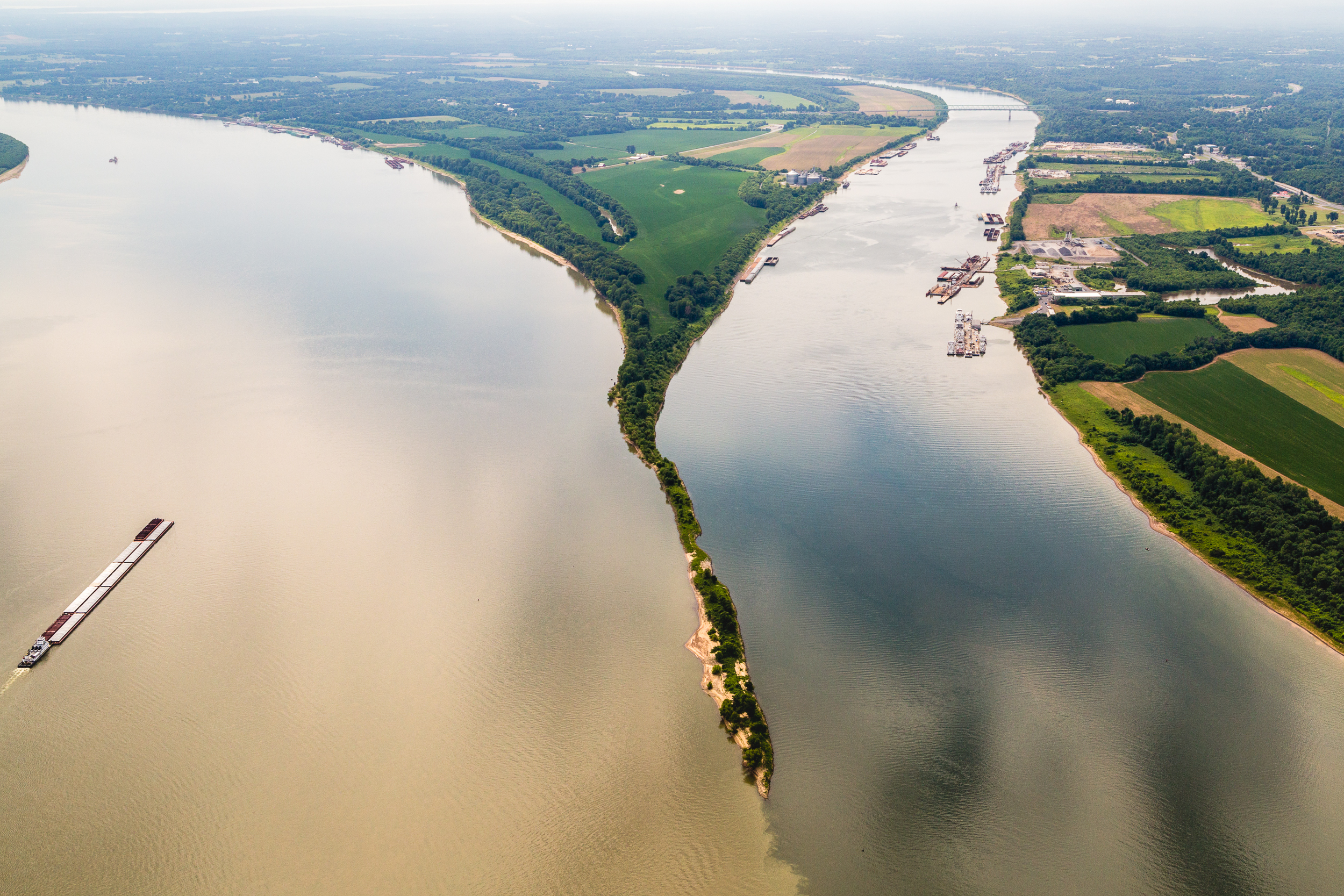 Confluence of the Ohio and Tennessee Rivers , Paducah, Kentucky.