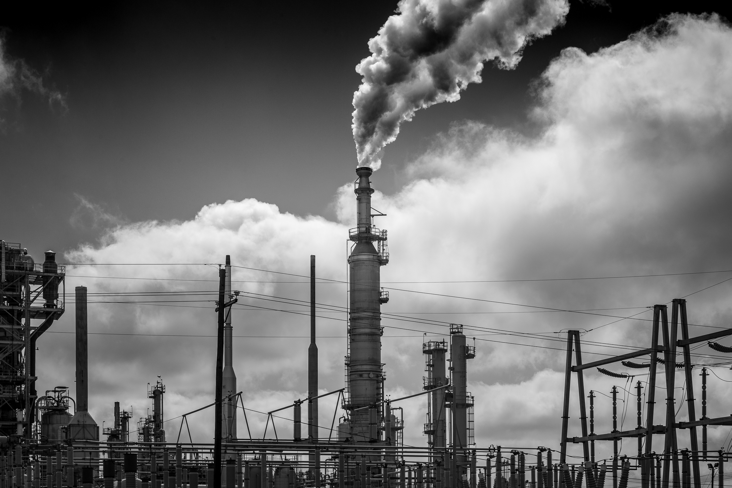 Oil refinery, Baton Rouge, Louisiana.