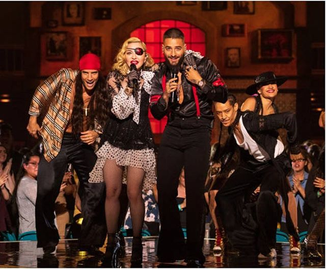 @monaberntsen på scenen med @madonna under BMA i Las Vegas igår 🔮🔮🔮