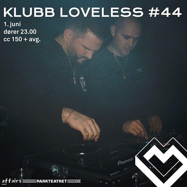 Klubb Loveless #44 ikveld med blant annet den allmektige produsenten @filipkollsete som skal feire at Eskimoblod med @arif_murakami endelig er ute 🤯🤯❤️❤️❤️