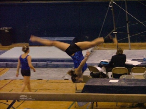Greta was a solid and consistent balance beam competitor, as shown here when she competed for San Jose State University.