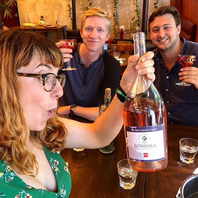 Celebrating an *overwhelmingly* successful opening weekend of Watch Room on @watchdust! Good a time as any to break into our Best Short trophy from @sonomafilmfest!!! . . . #shortfilm #ai #artificialintelligence #vr #virtualreality #rose #directorslife