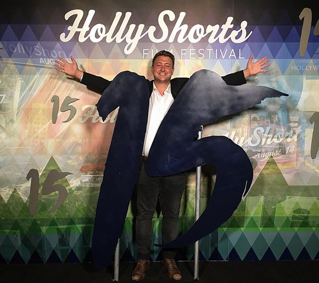 """Wouldn't be Hollywood without a red carpet! Thank you @hollyshorts for an amazing week and a very memorable screening at @chinesetheatres! Also great to have """"Larry"""" from the film, and to see filmmaker friends like @dohdohdeeno !  #shortfilm #ai #artificialintelligence #vr #virtualreality #filmfestival #hsff15 #WhosYourDaddy"""