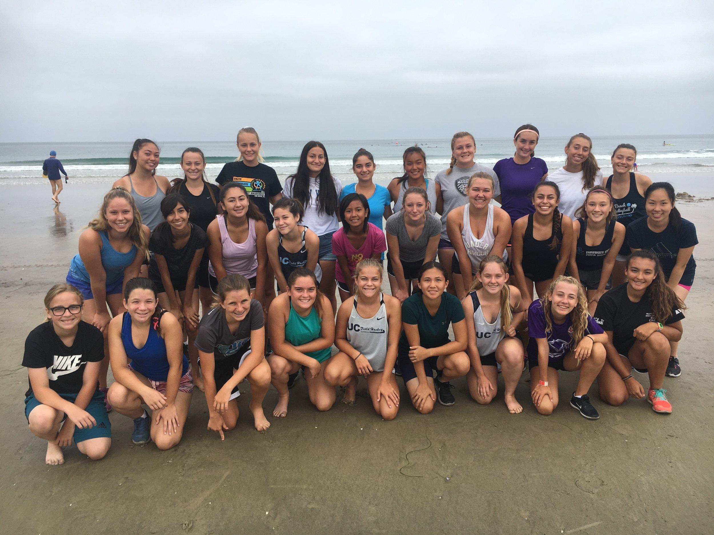 Beach Practice 2018