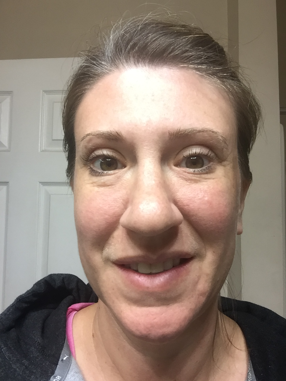 This is me less than 30 days into my journey with Kristy. I am make-up free with the exception of a small amount of mascara. I am happy - no hives, my skin hydrated and smoother .