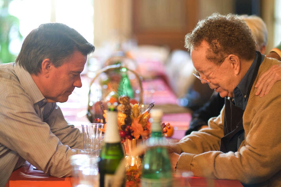 John Morton, MSIA Spiritual Director, and John-Roger, PAL&G & MSIA Founder, at a Thanksgiving Dinner held at PAL&G in 2012.