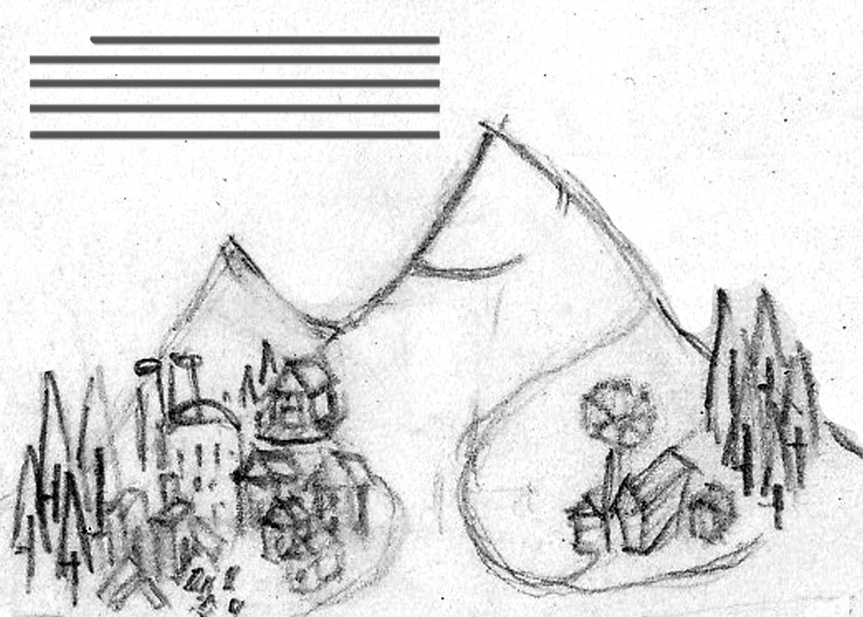 Original storybook sketch