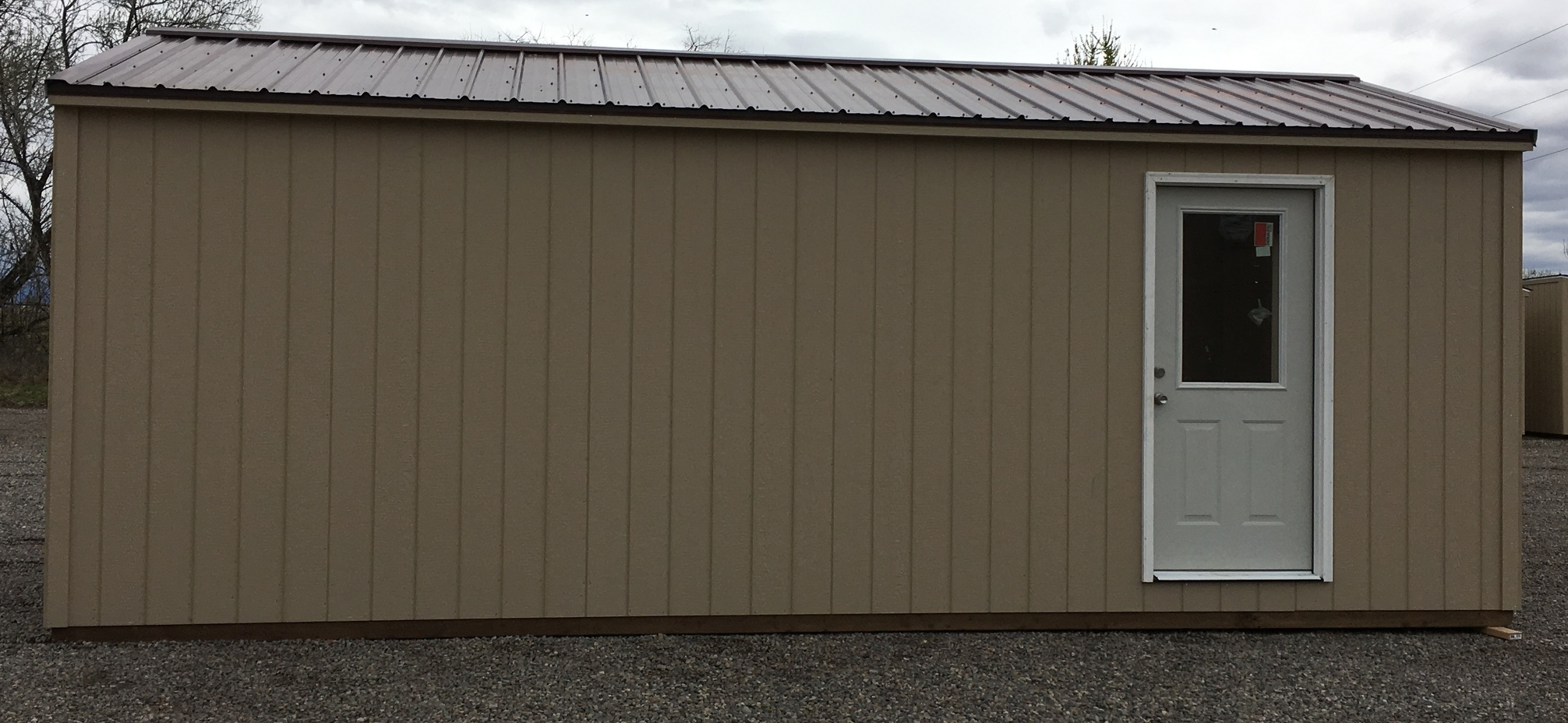Shed with Metal Roof & House Door