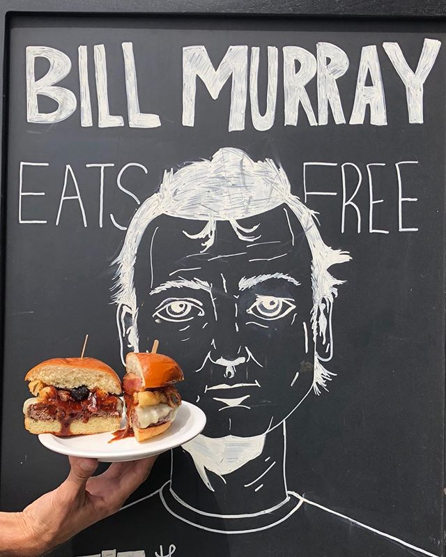 For real, though. Bring us the head of Bill Murray and we'll feed it AND YOU a free meal. (Head must still be attached to Mr. Murray's unharmed living body.) . . . . . #billmurray #burger #foodgasm #meeeeeats #dinela #eaterla #lafoodmag #lafoodie