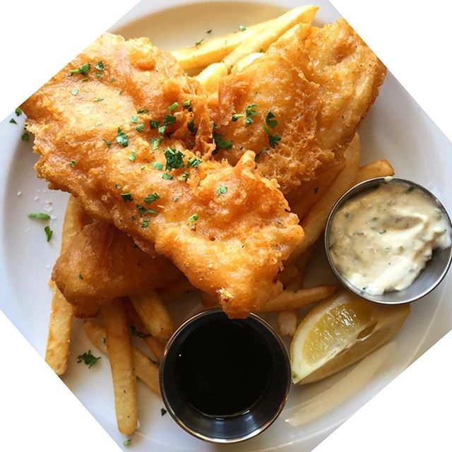 Fish and Chips. Fridays and Saturdays only! . . . . . #fishandchips #fried #fryday #friyay #fridaynight #dinnersdriveinsanddives #guyfieri #forkyeah #bonappetit #yum