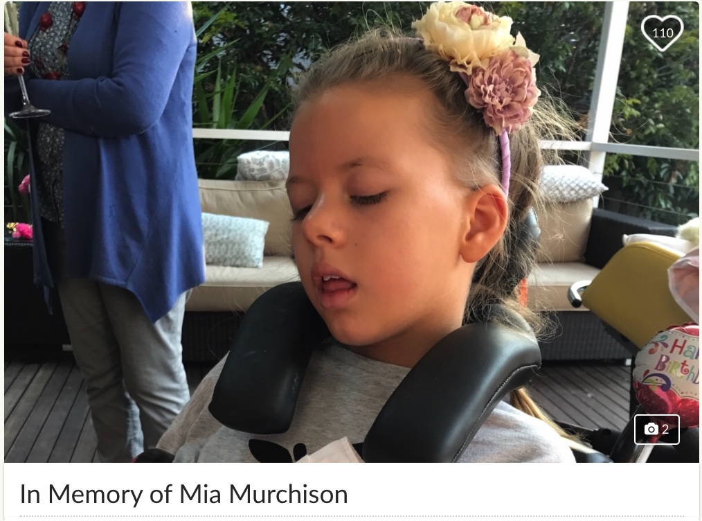 Donation Link Above to Mia's Go Fund Me Page