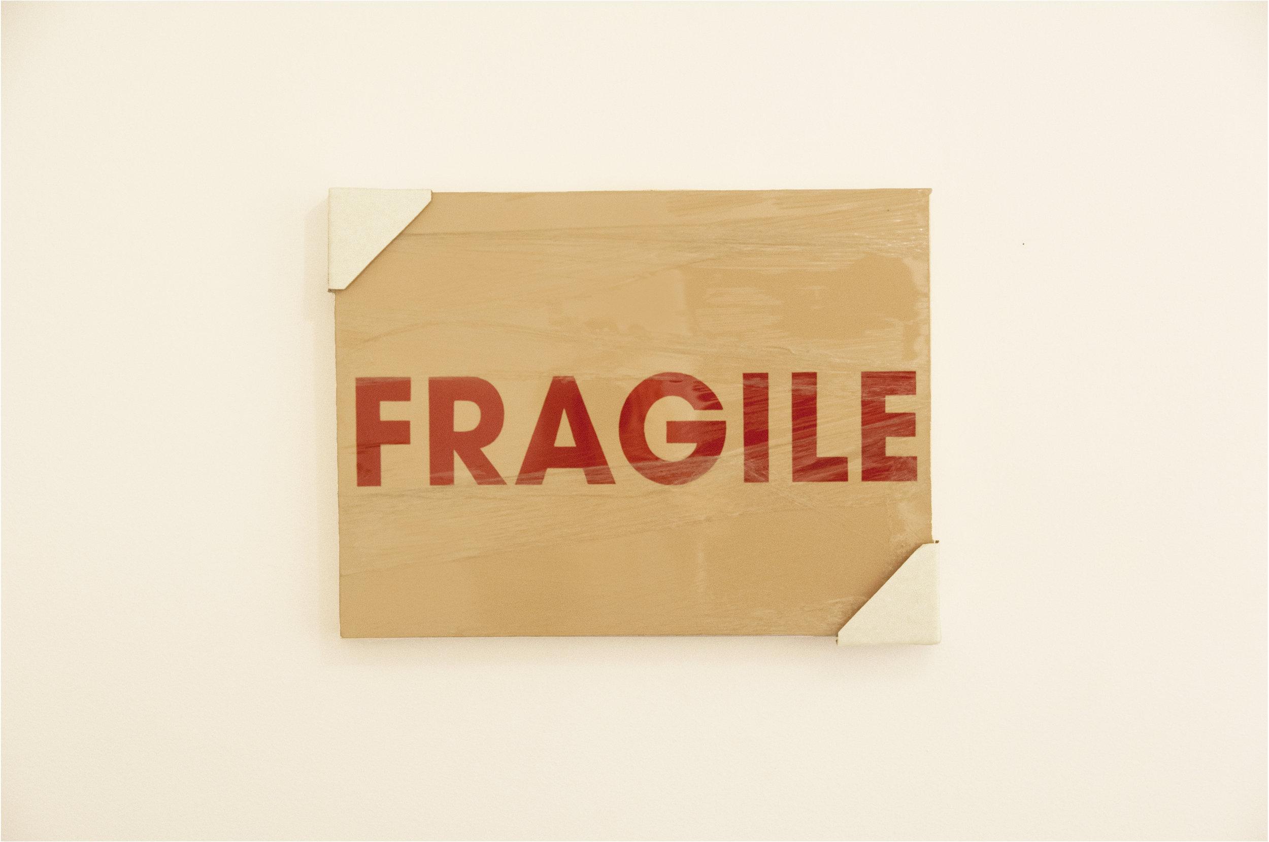 Fragility, acrylic and mixed media on canvas