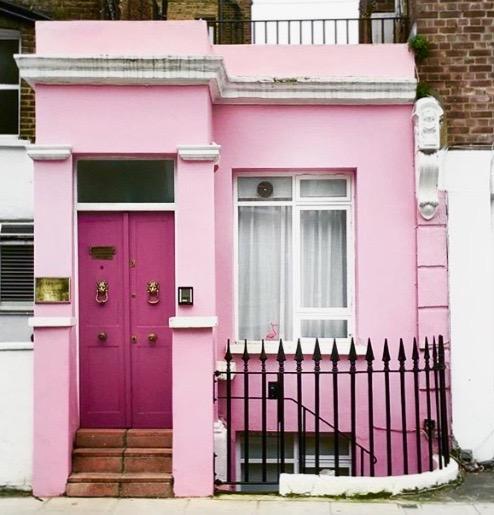 Pink House London via The Design Edit