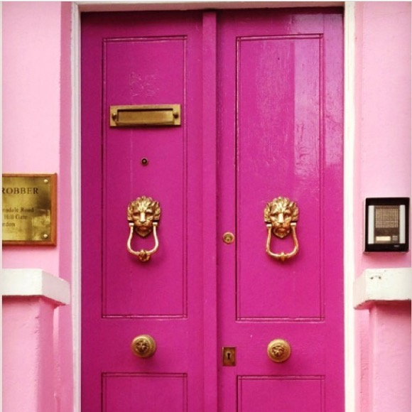 Pink Door London via The Design Edit