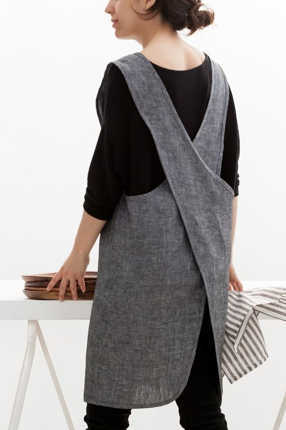 Pure European linen apron made in Montreal by Mariana Robledo of Objective, $95.