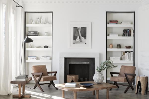 Paris Apt. Living Room by NS Architects. Photo: Stephan Juillard || via The Design Edit