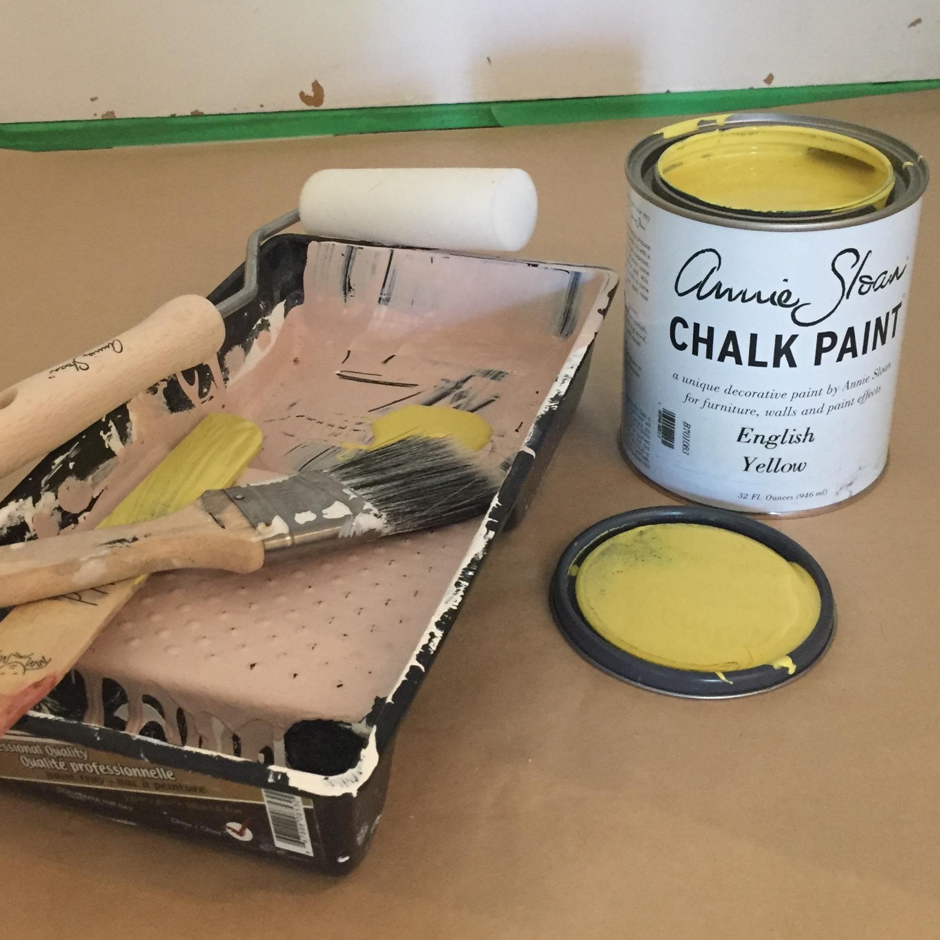 DIY Painted Yellow Door Materials || via The Design Edit