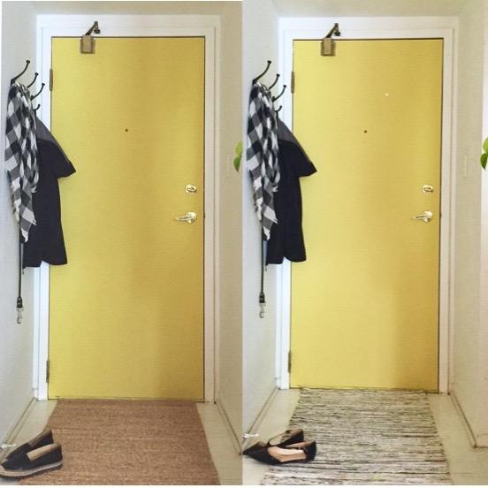 Yellow Door alternate runners || via The Design Edit