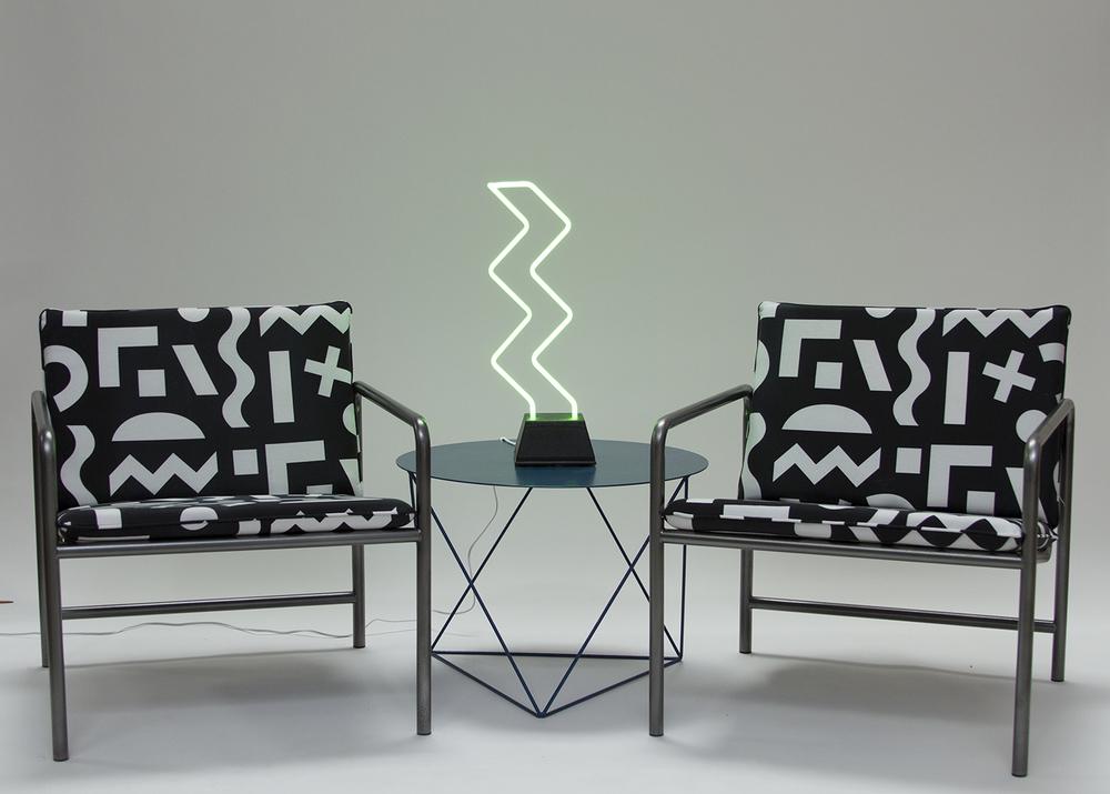 Option 2: Pair of Dusen Dusen X Eric Trine chairs.