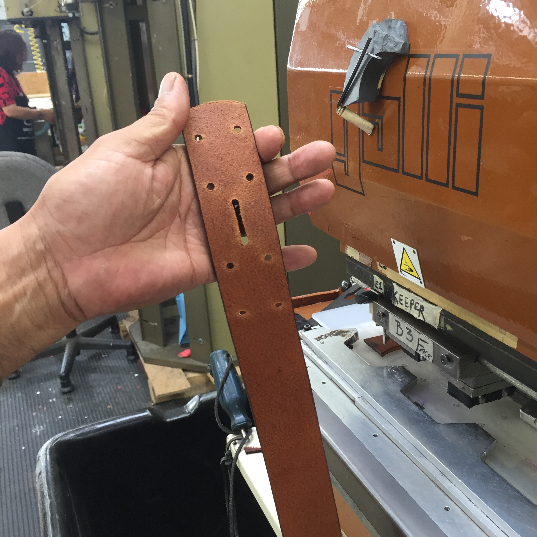 5c. Buckle area holes detail.
