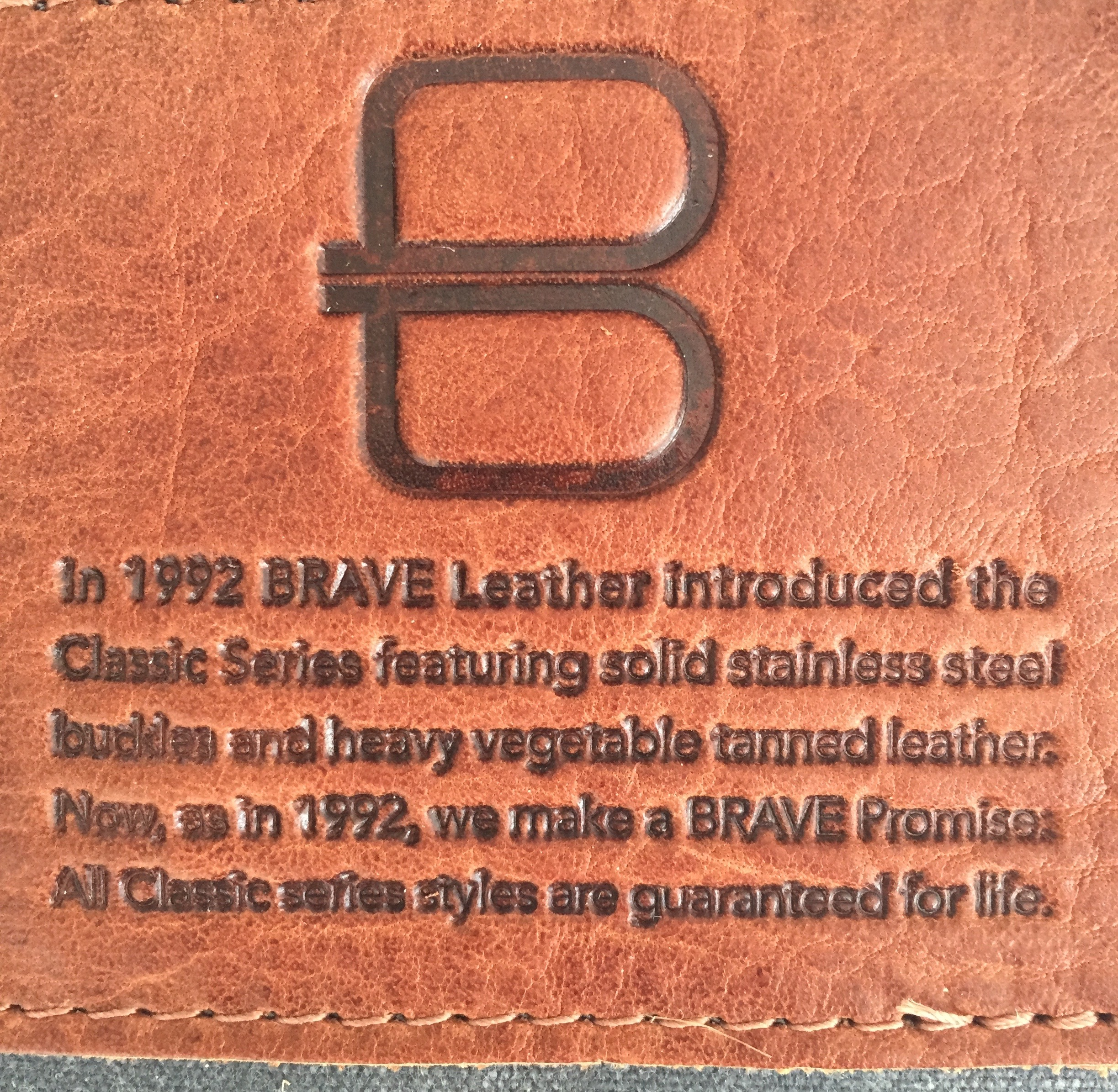 11a. Bag is embossed with the lifetime guarantee for the Classic.