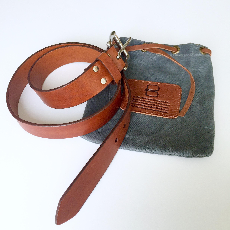 Brave Leather Classic belt and bag || via The Design Edit