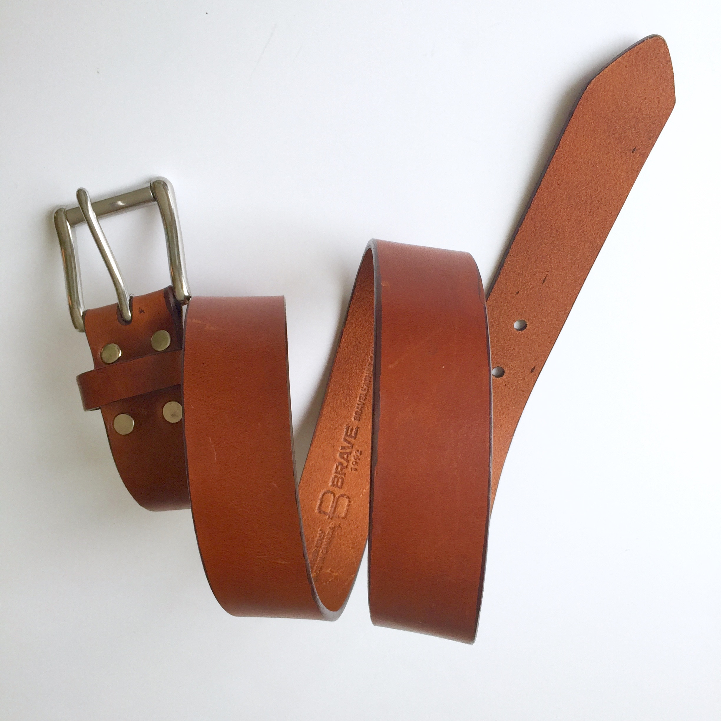 Brave Leather Classic belt in Brandy leather || via The Design Edit