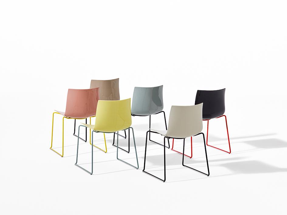 Catifa46 chairs by Arper     via The Design Edit