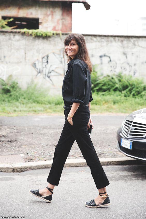 Emmanuelle Alt in espadrilles || via The Design Edit