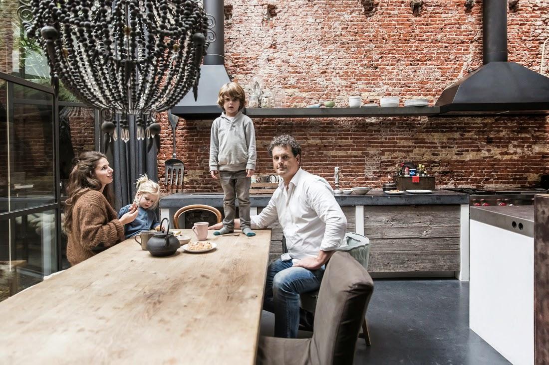 Marius Haverkamp and family in their loft