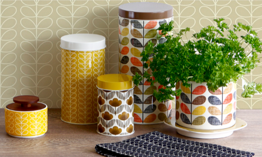 Orla Kiely  Kitchen accessories available through Amara, sponsors of the Interior Blog Awards.