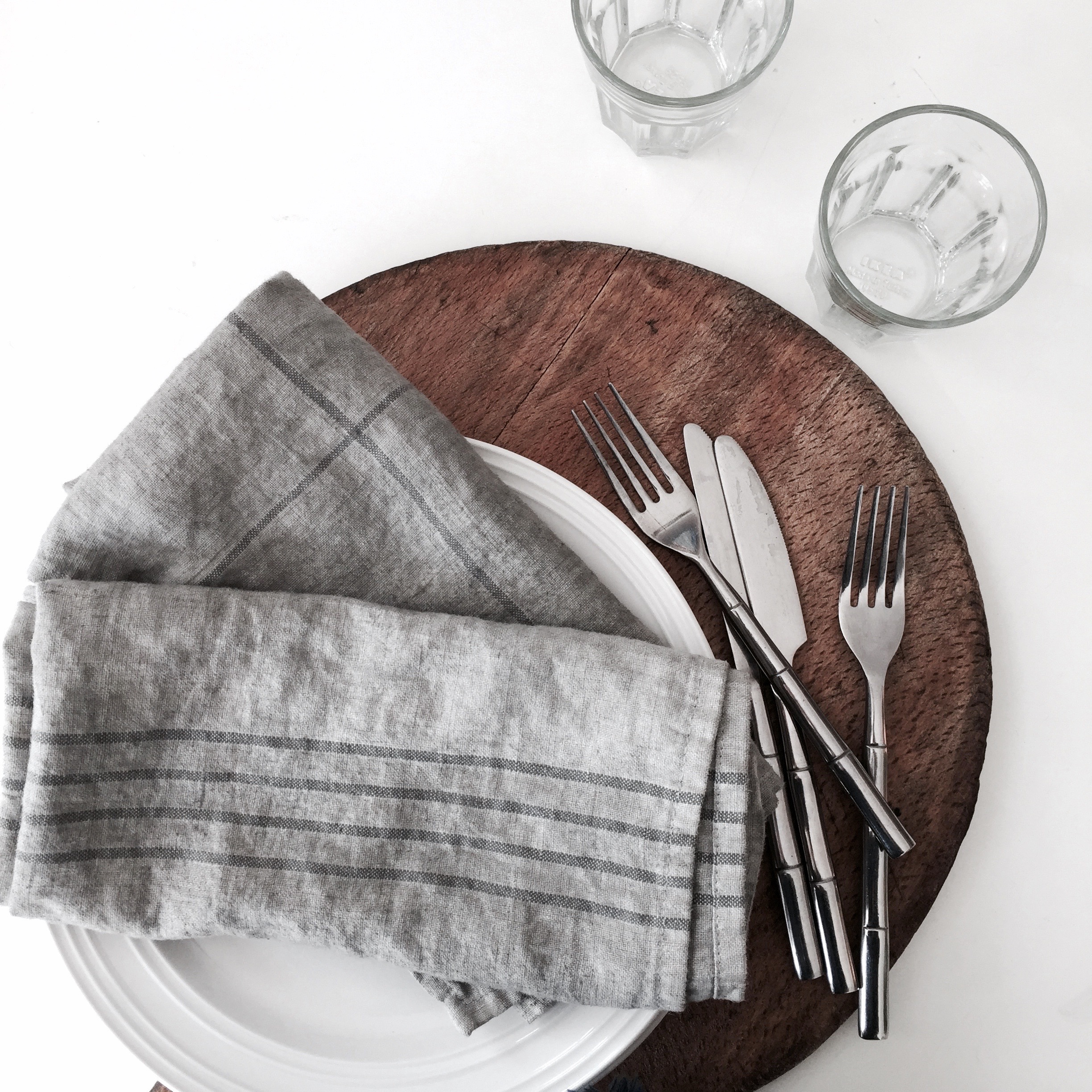 Chalk Paint Dyed Dishtowels Napkins
