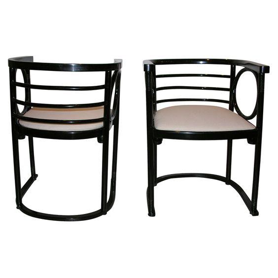 Fledermaus chairs by Josef Hoffmann