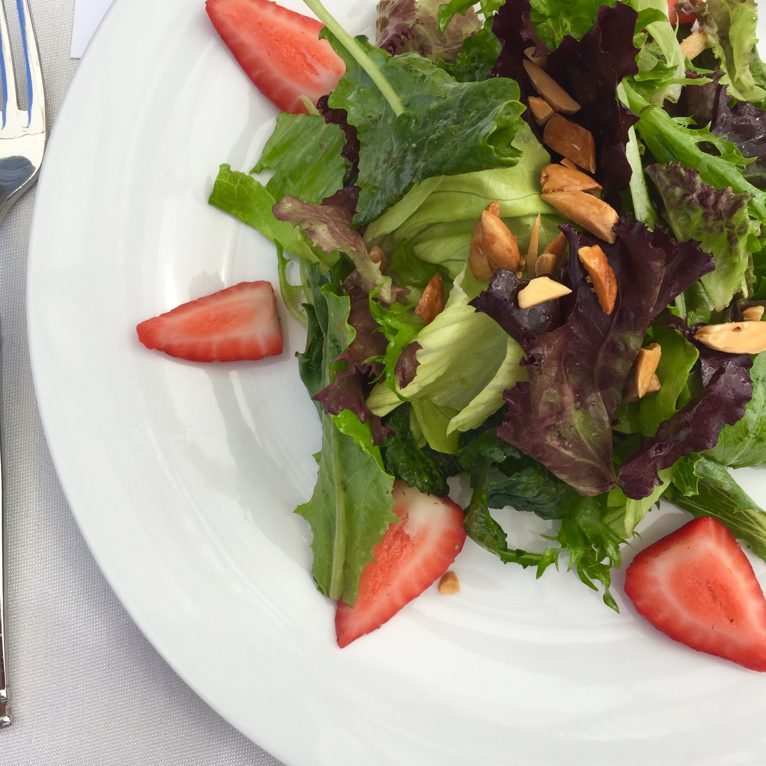 First course was a pretty salad of mixed greens with nuts, berries and a divine vinaigrette.