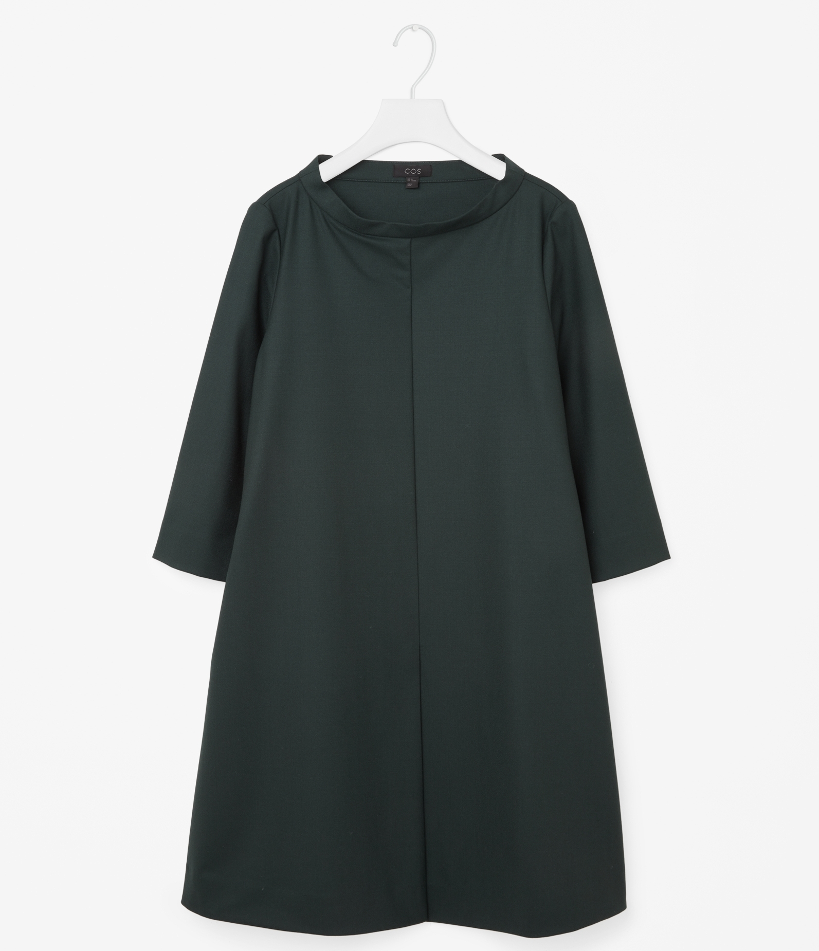 Wide Neck dress Green COS || The Design Edit