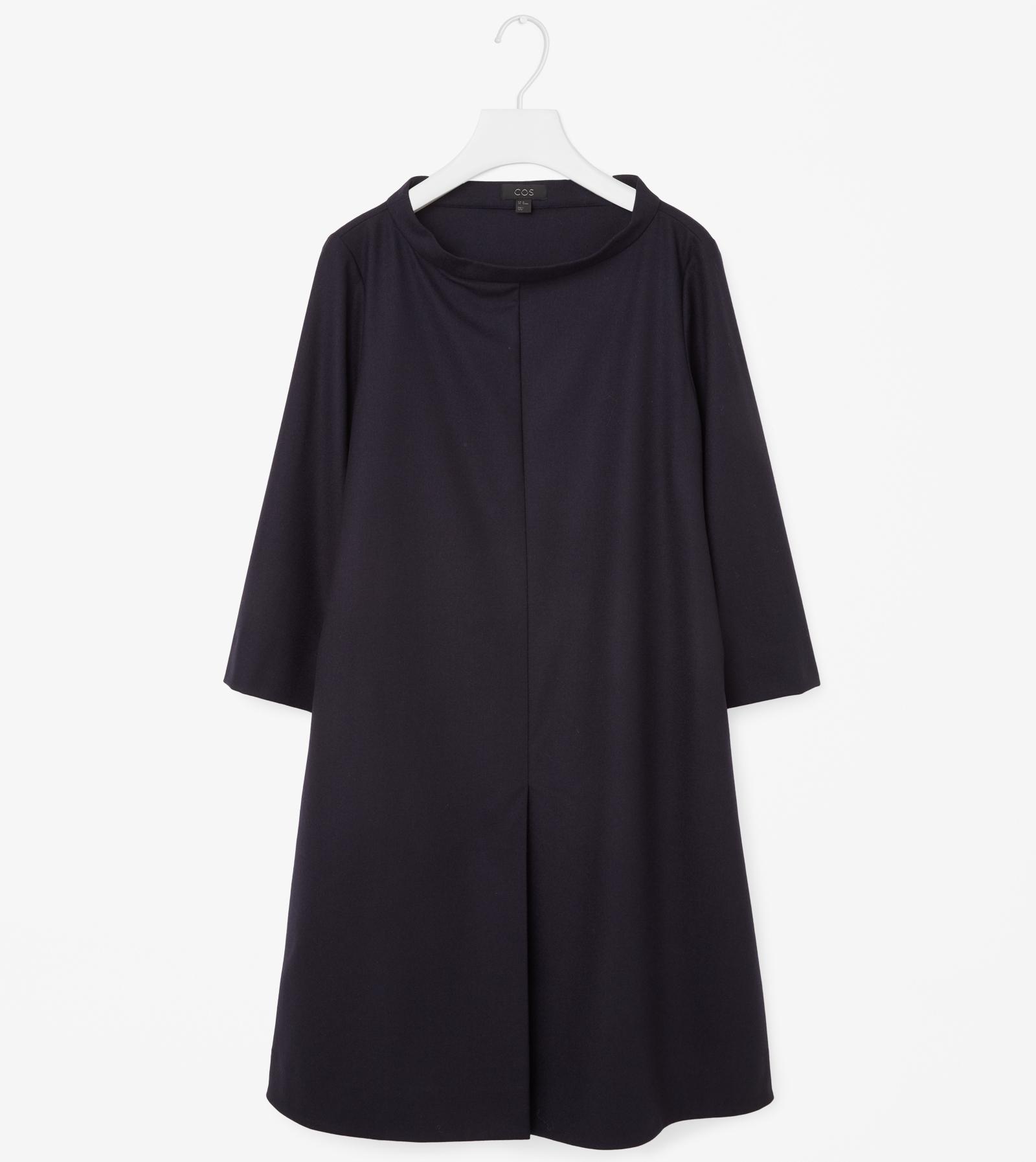 Wide Neck Dress Navy COS || The Design Edit