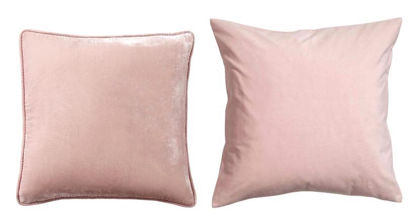 Lookalikes: Pottery Barn and H&M velvet pillows