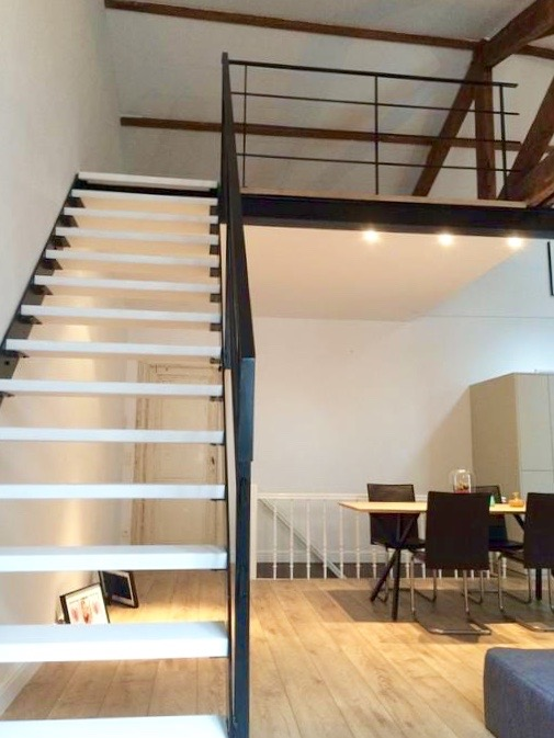 Stairs to our lofted bedroom.
