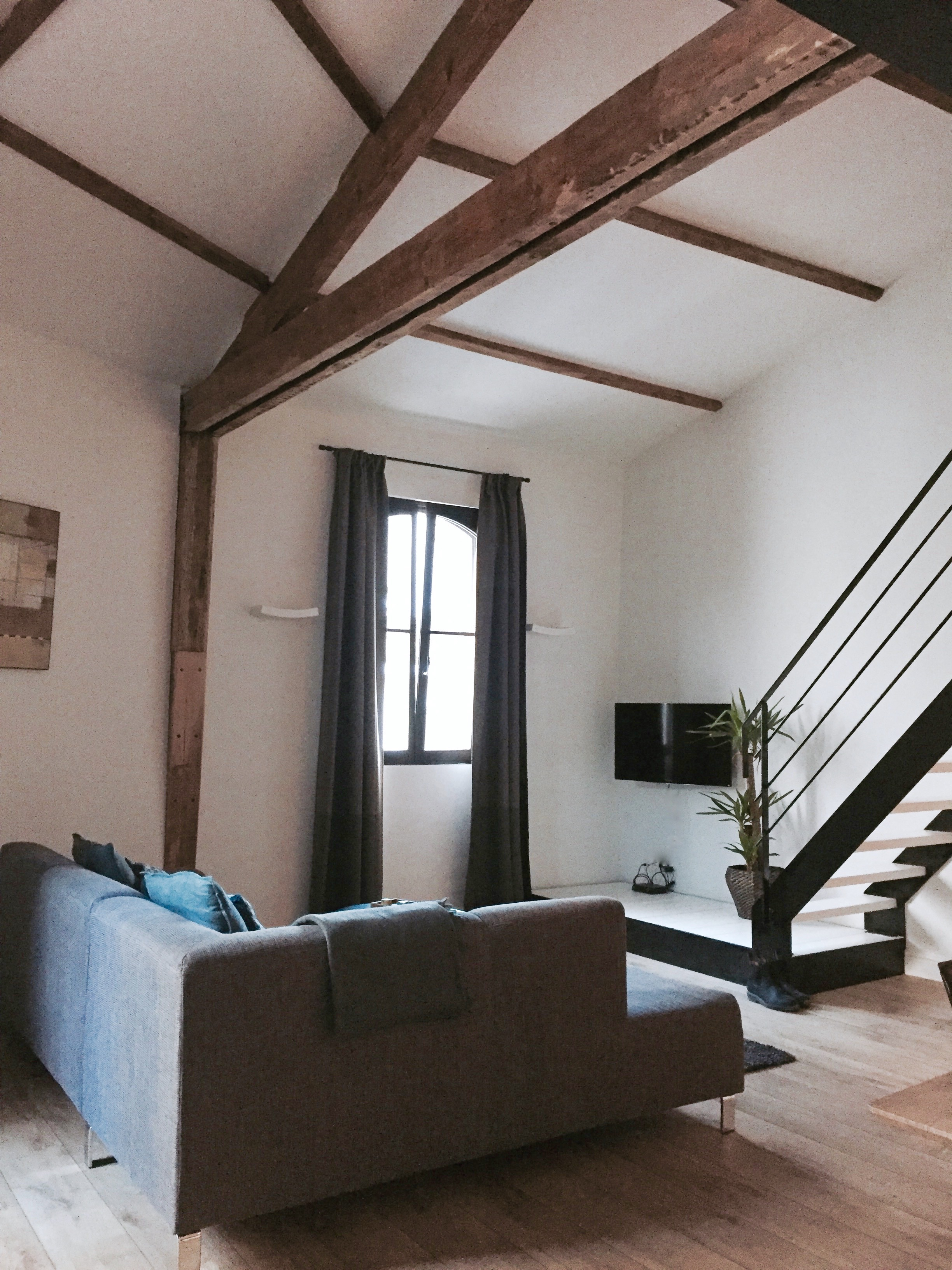 This place had me at the massively high ceilings and the original beams. I also felt it had a suitably Antwerpian Vincent Van Duysen vibe.