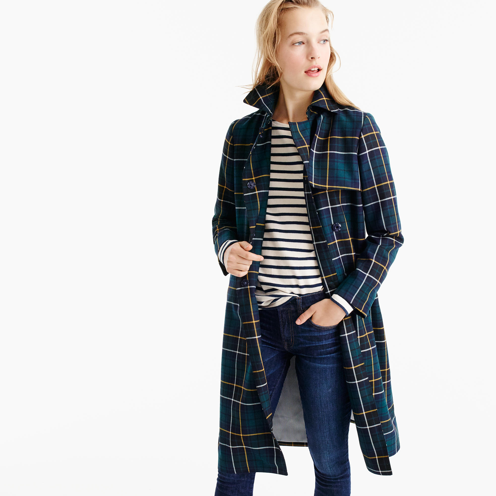 Collection Trench Coat in Tartan
