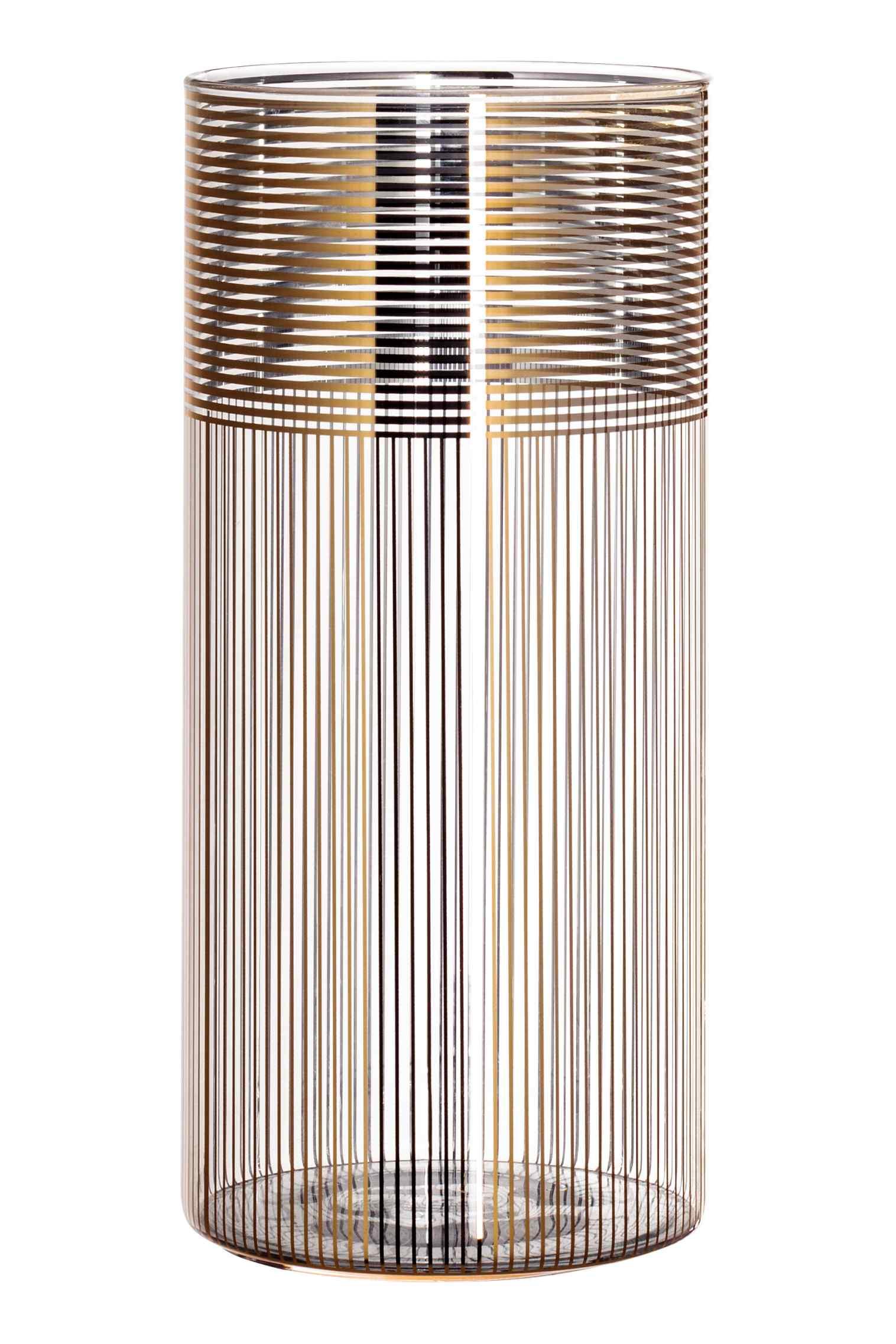Gold patterned vase, $30