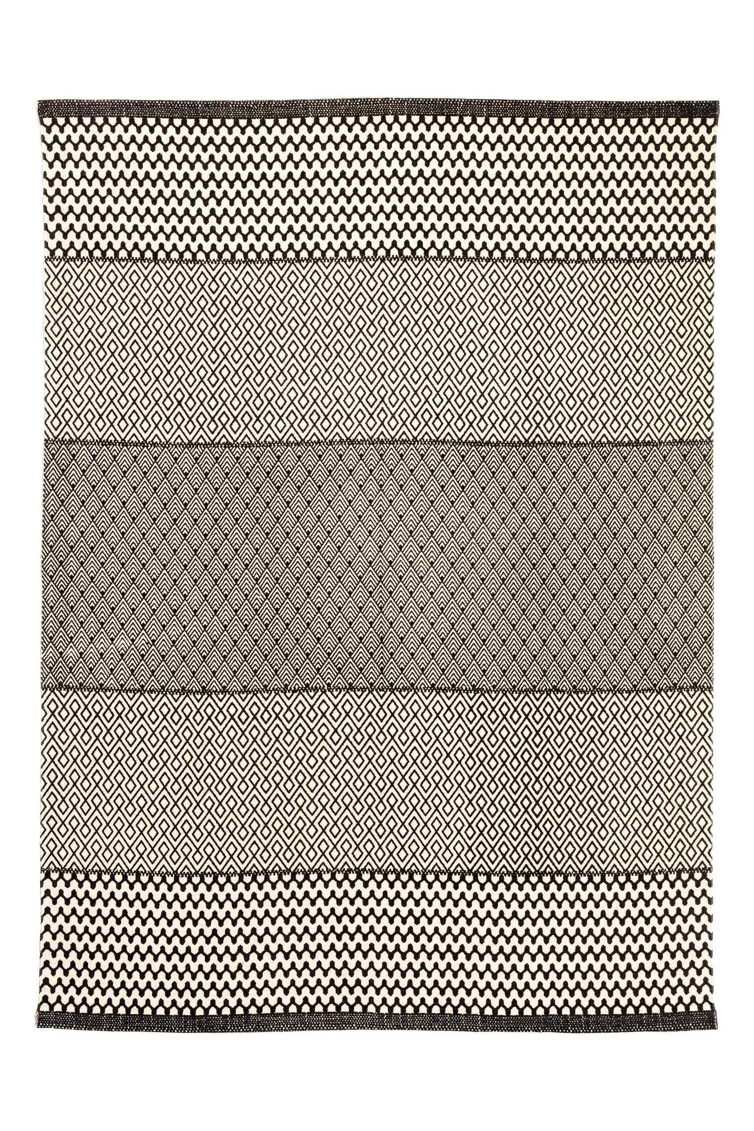 Cotton patterned rug, $99