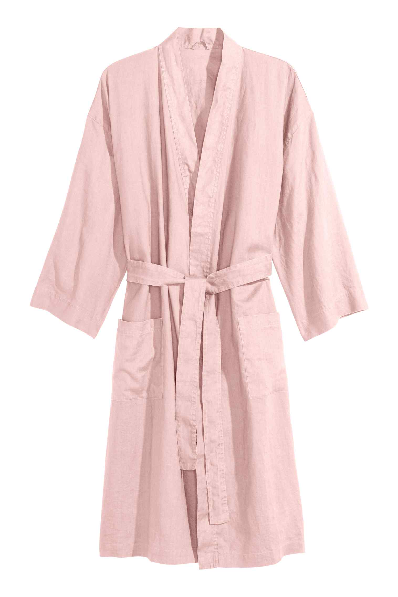 Washed linen dressing gown, $60